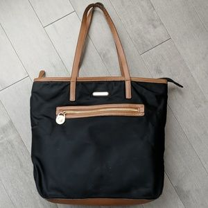 Michael Kors black and brown nylon tote
